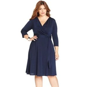 NWT NY Collection Faux-Wrap Dress